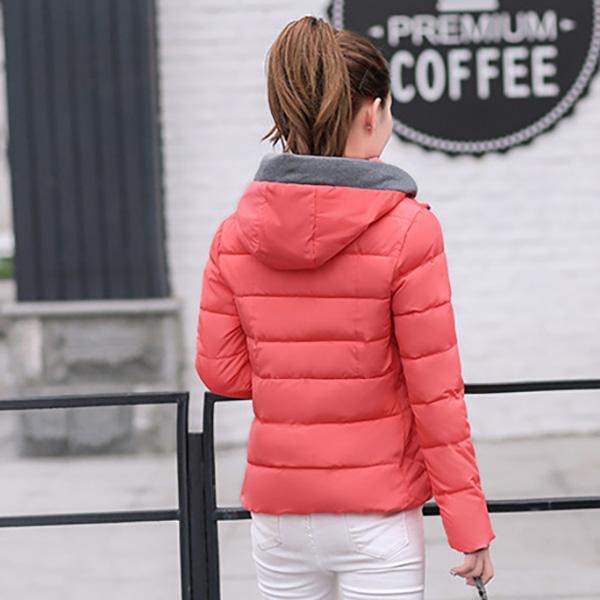 เสื้อโค้ทกันหนาวติดลบลุยหิมะได้ มีฮู้ด ทรงสลิม