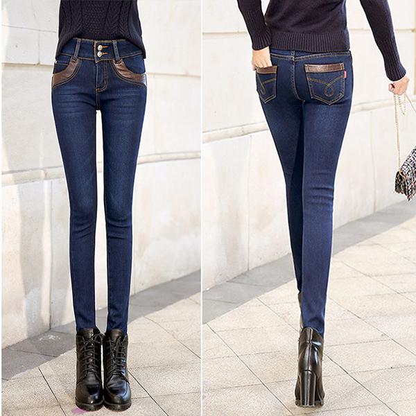 กางเกางยีนส์,กางเกงยีนส์กันหนาว,กางเกงยีนส์พร้อมส่ง,กางเกงยีนส์แฟชั่นเกาหลี,กางเกงยีนส์แฟชั่นหน้าหนาว,กางเกงพร้อมส่ง,กางกางยีนส์ซับในกำมะหยี่