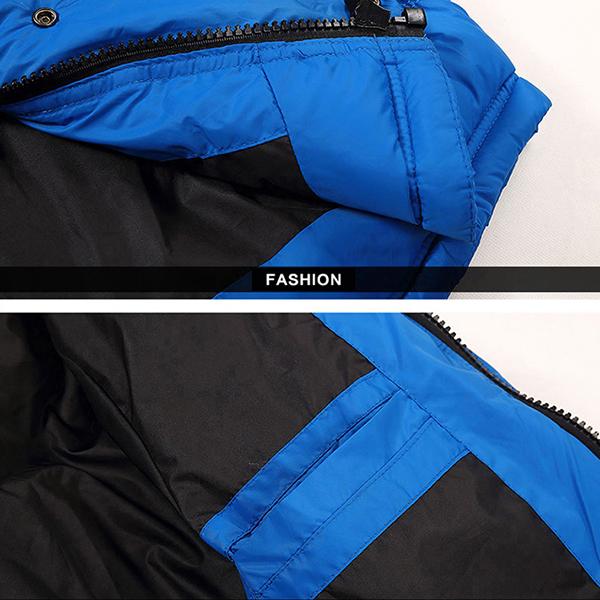 Down Jacket เสื้อแจ็คเก็ตกันหนาวขนเป็ดรุ่นหนาลุยหิมะ มีฮู้ดถอดได้