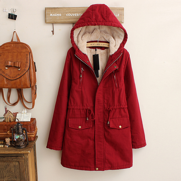 เสื้อโค้ทกันหนาวรุ่นหนาลุยหิมะ มีฮู้ด ซับขนนุ่มเต็มตัว