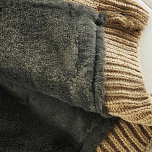 เสื้อโค้ทกันหนาวไหมพรมปักลาย มีฮู้ด ซับขนกระต่าย