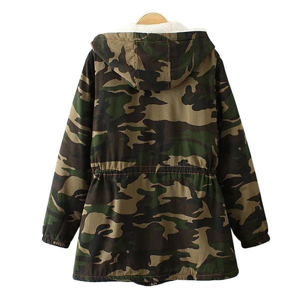 เสื้อโค้ทยีนส์กันหนาวลายทหาร รุ่นหนาลุยหิมะ มีฮู้ด ซับขนนุ่มเต็มตัว