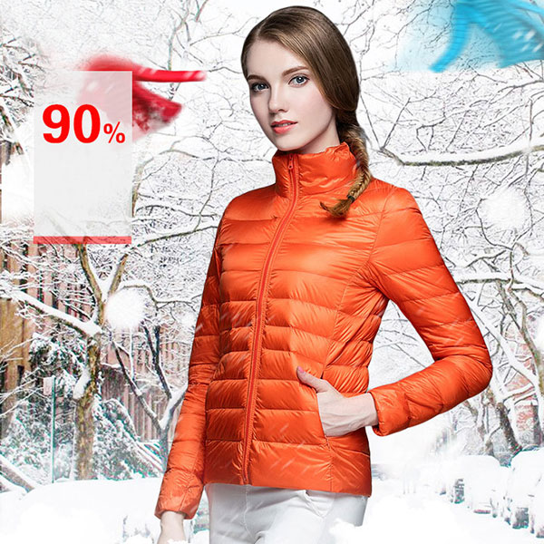 Ultra Light Down Jacket เสื้อกันหนาวขนเป็ดพร้อมถุงเก็บ