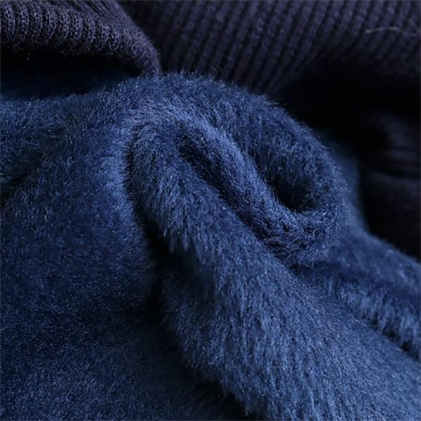เสื้อสเวตเตอร์กันหนาวสไตล์วินเทจ มีฮู้ดซับขนแกะ แต่งยิ้มน้องแมวน่ารัก