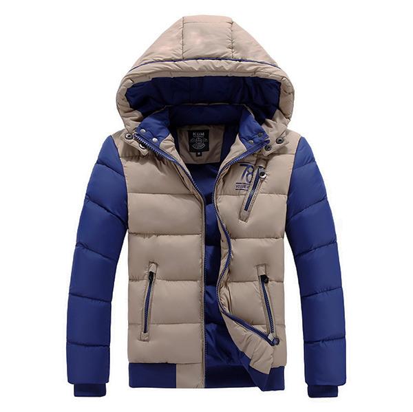 เสื้อแจ็คเก็ตโค้ทกันหนาวผู้ชาย ผ้าร่ม ฮู้ดถอดได้