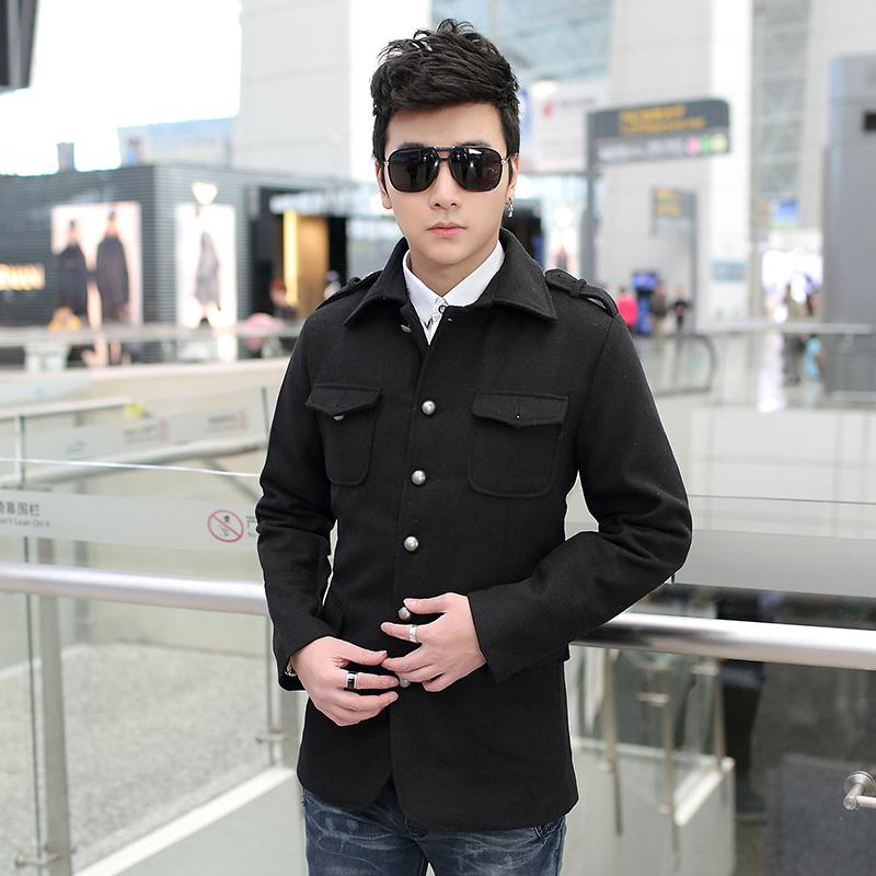 เสื้อแจ๊กเก็ตกันหนาวผู้ชาย คอปก แต่งกระเป๋า (10046MM)