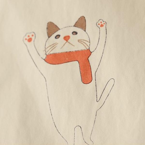 เดรสเชิ้ตแฟชั่นญี่ปุ่น แขนยาว พิมพ์ลายแมว