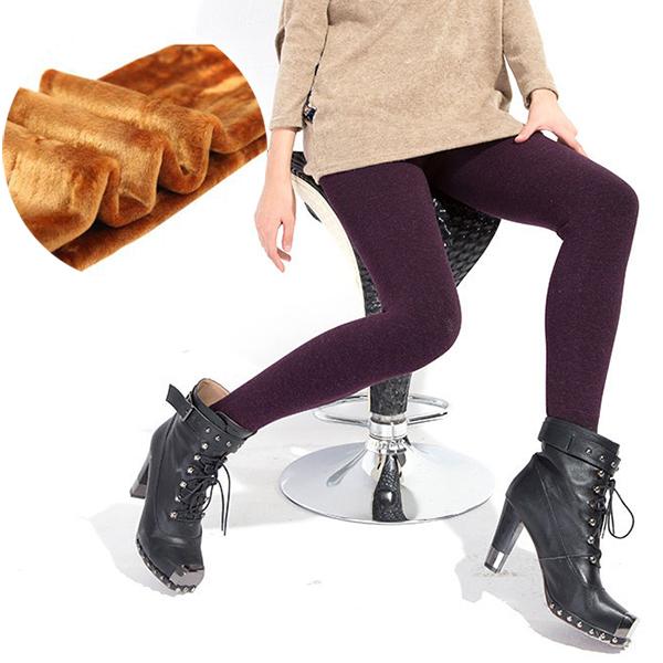 กางเกงเลกกิ้งรุ่นหนากันหนาวติดลบ ขายาวปิดส้นเท้า