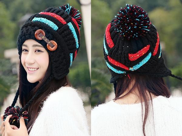 -หมวกไหมพรม-หมวกกันหนาว-หมวกปิดหู