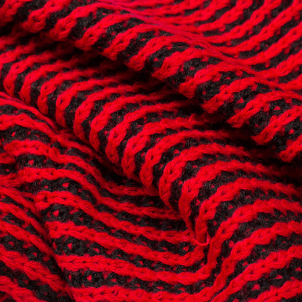 ผ้าพันคอ ผ้าคลุมไหล่ ผ้าไหมพรมหนานุ่มถักลายนูนสลับสี ผืนใหญ่