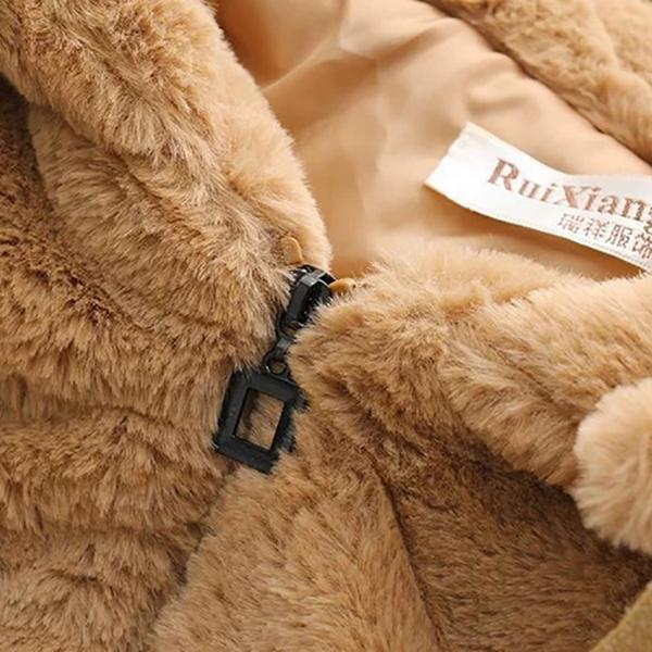 เสื้อโค้ทกันหนาวพรีเมี่ยม ผ้าขนตุ๊กตานิ่มมาก มีฮู้ด กระเป๋าลายแพนด้า