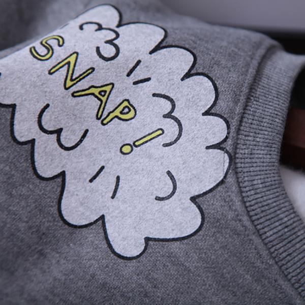 เสื้อสเวตเตอร์กันหนาว แขนยาว พิมพ์ลายการ์ตูนน่ารัก
