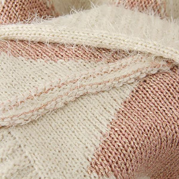 เสื้อสเวตเตอร์กันหนาว ไหมพรมนิตติ้งหนานุ่ม แต่งปักมุกน่ารัก