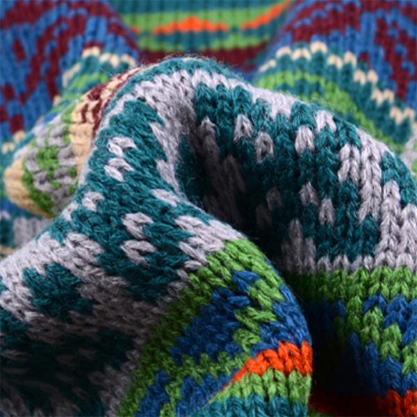 ผ้าพันคอ ไหมพรมนิตติ้งหนานุ่มถักลายกวางน่ารัก