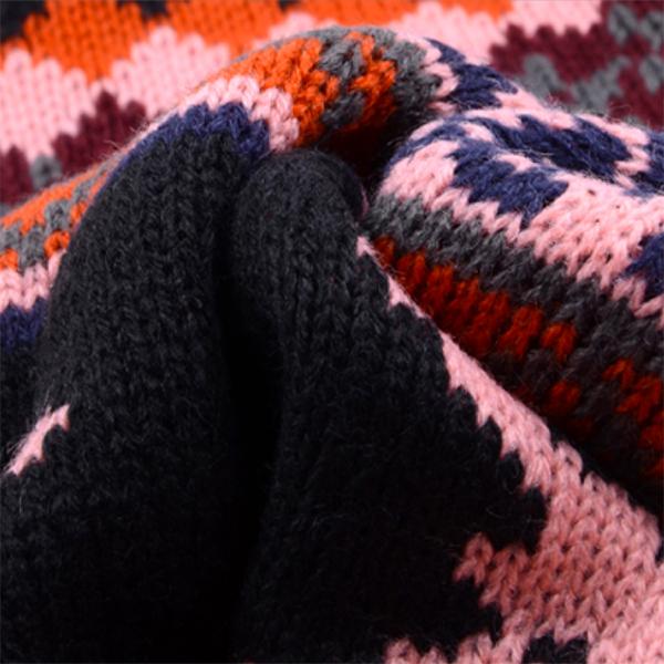 ผ้าพันคอไหมพรม ผ้าพันคอกันหนาว ผ้าพันคอกันหนาวผืนยาวถักลายกวาง
