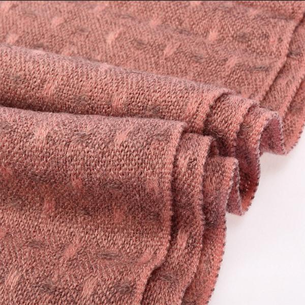 ผ้าพันคอ ผ้าคลุมไหล่ไหมพรมเนื้อนิ่ม ผืนยาว ปลายแต่งริ้ว