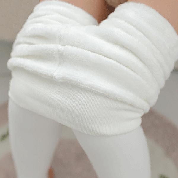 เลกกิ้งกันหนาวสีขาวสโนว์เกรดพรีเมี่ยม ซับแคชเมียร์ใส่กันหนาวติดลบ