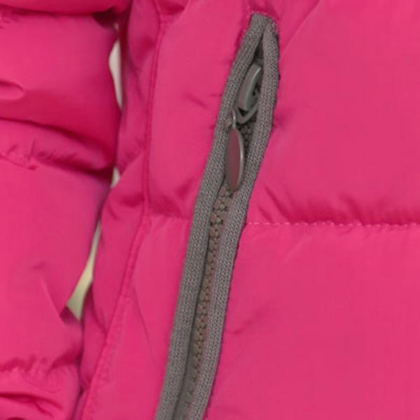 เสื้อโค้ทกันหนาวตัวสั้น มีฮู้ดแต่งไหมพรมปักลาย
