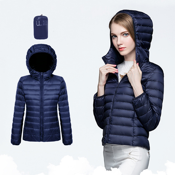 Ultra Light Down เสื้อกันหนาวขนเป็ด มีฮู้ดพร้อมถุงเก็บ