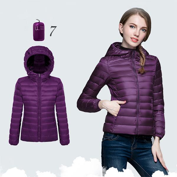 Ultra Light Down Jacket เสื้อกันหนาวขนเป็ด มีฮู้ดพร้อมถุงเก็บ
