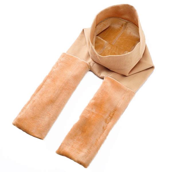 กางเกงเลกกิ้งสีเนื้อเกรดพรีเมี่ยม ซับแคชเมียร์ใส่กันหนาวติดลบ