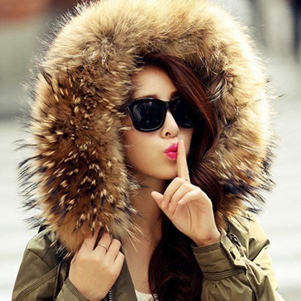 เสื้อโค้ทกันหนาวเกรดพรีเมี่ยม บุขนเป็ดแต่งเฟอร์แท้ กันหนาวติดลบลุยหิมะได้ (11884X)