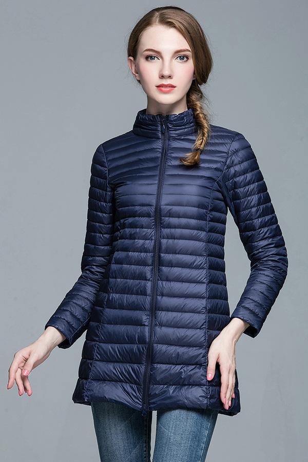 Ultra Light Down เสื้อโค้ทกันหนาวขนเป็ดตัวยาว พร้อมถุงเก็บ