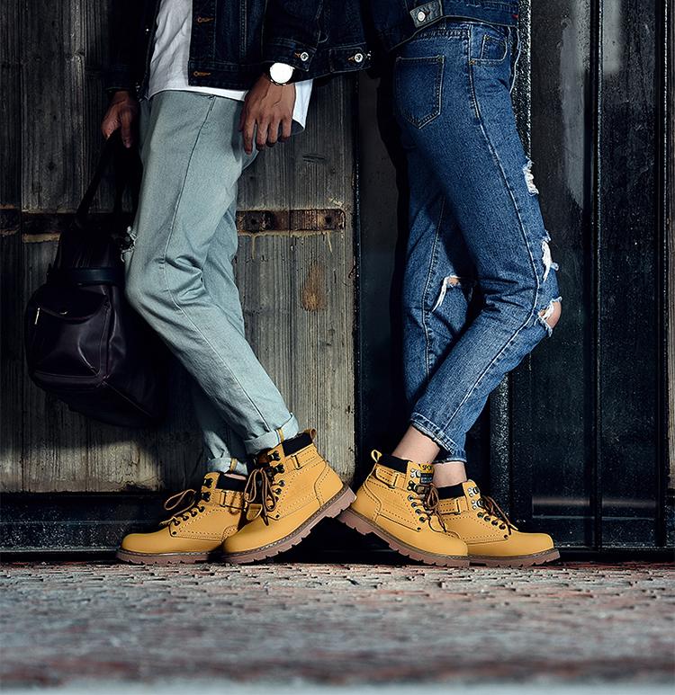 รองเท้าบูทหนังกันหนาวลุยหิมะ มีซับขนด้านใน WINTER BOOT (10053MM)