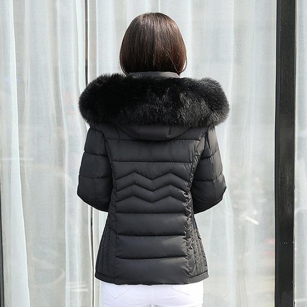 เสื้อโค้ทกันหนาวติดลบลุยหิมะ มีฮู้ดแต่งเฟอร์ถอดได้