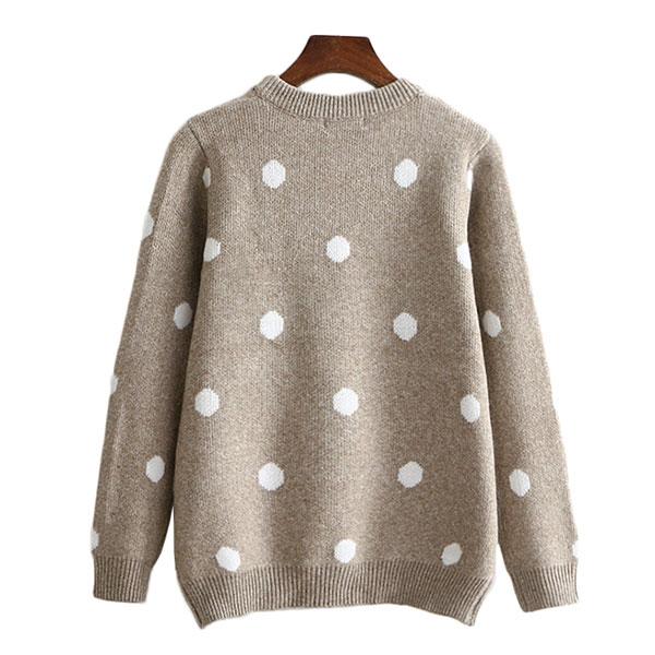 เสื้อสเวตเตอร์กันหนาว ไหมพรมกึ่งวูลหนานุ่ม แต่งปักลายกวาง