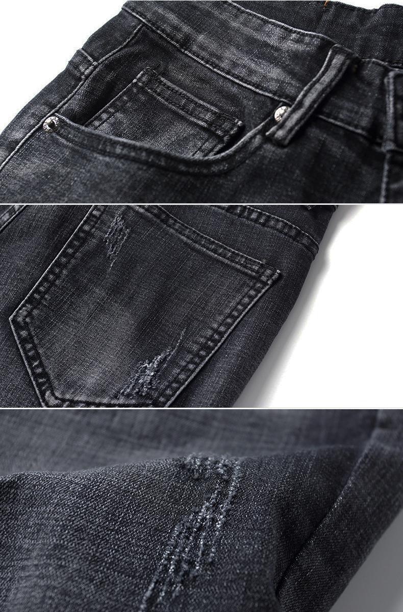 กางเกงยีนส์กันหนาวผู้ชาย รุ่นหนามีซับขนนุ่ม (10160MM)