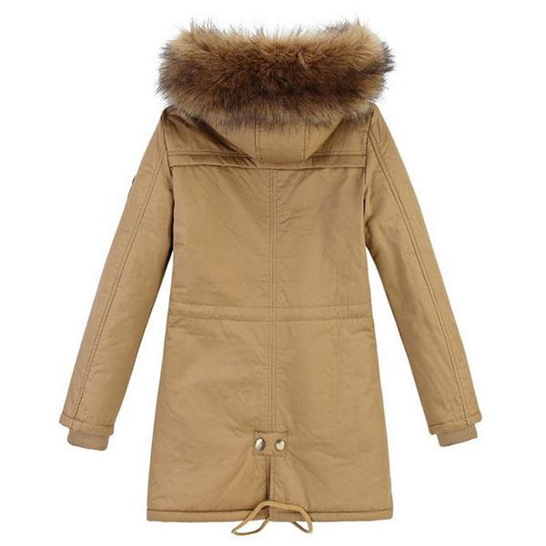 เสื้อโค้ทกันหนาวรุ่นหนาใส่ติดลบ ซับขนนุ่มเต็มตัว มีฮู้ดแต่งเฟอร์ถอดได้