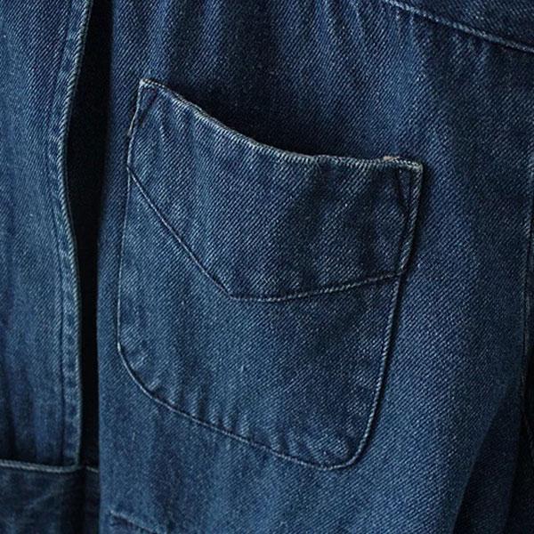 เสื้อโค้ทยีนส์กันหนาว คอปิด ผ้ายีนส์ฟอกนิ่มแต่งกระเป๋าคู่
