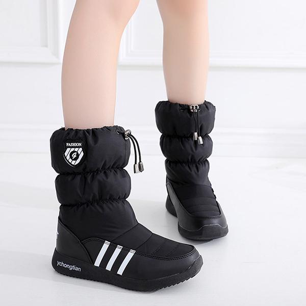 รองเท้าบูทลุยหิมะแฟชั่นกันหนาว เย็บจั้มข้อ มีซับในบุขนหนานุ่มอุ่นเวอร์