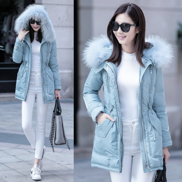เสื้อโค้ทกันหนาวเกรดพรีเมี่ยม บุขนเป็ดแต่งเฟอร์แท้ กันหนาวติดลบลุยหิมะได้