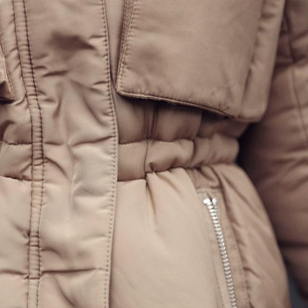 เสื้อโค้ทกันหนาวใส่ติดลบลุยหิมะ ฮู้ดและเฟอร์ถอดได้