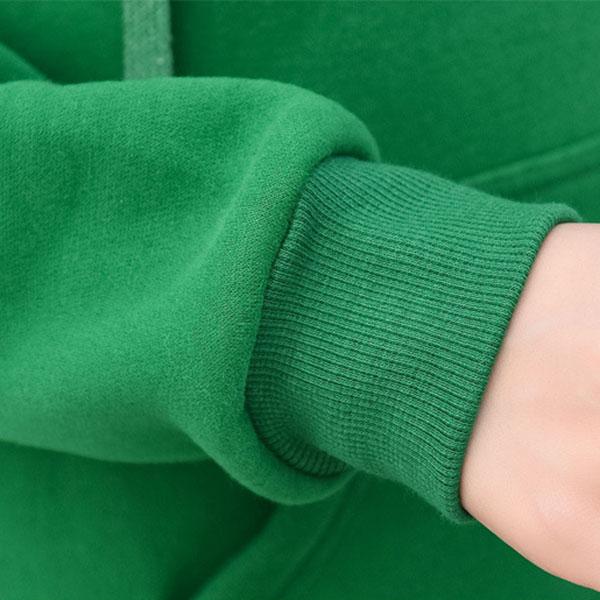 เสื้อแจ็คเก็ตกันหนาว มีฮู้ด ปักลายอักษรแต่งกระเป๋าคู่