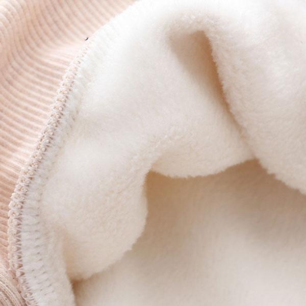 เสื้อสเวตเตอร์กันหนาววินเทจ พิมพ์ลายกวาง ซับกำมะหยี่เต็มตัว