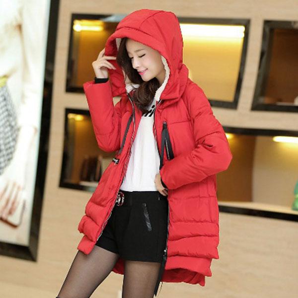 เสื้อโค้ทกันหนาวลุยหิมะ มีฮู้ดซับขนแกะ แต่งซิปข้าง