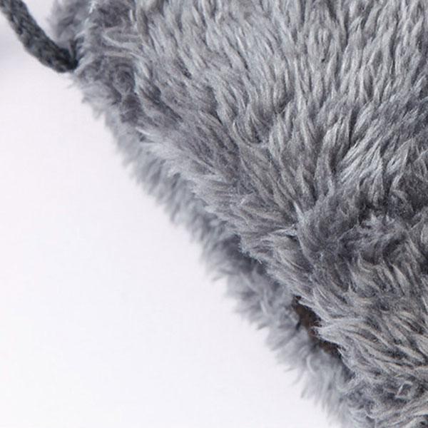 ถุงมือกันหนาว ผ้ากำมะหยี่พิมพ์ลาย ซับขนนุ่ม