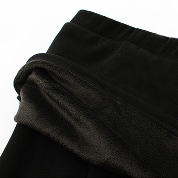 กางเกงกระโปรงเลกกิ้งกันหนาว แต่งปักลาย ซับกำมะหยี่เต็มตัว