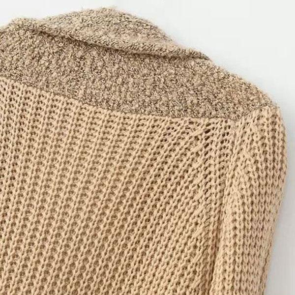 คาร์ดิแกน เสื้อคลุมกันหนาวตัวยาวทรงปล่อย แต่งประเป๋าคู่