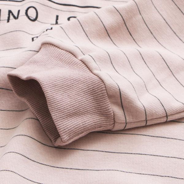 เสื้อสเวตเตอร์คอปกเชิ้ตลายทาง ผ้าตอนตอนนิ่มพิมพ์ลาย