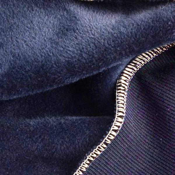 เสื้อสเวตเตอร์คอปกเชิ้ต แขนยาว ซับกำมะหยี่เต็มตัว