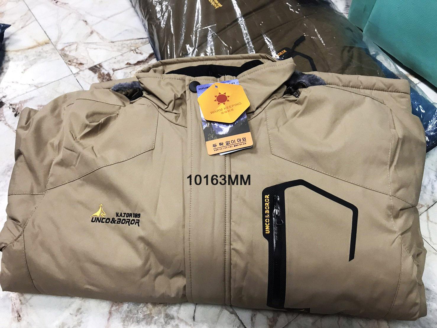 Outdoor Jacket เสื้อกันหนาวผู้ชาย ลุยหิมะติดลบ ซับขนนุ่ม ฮู้ดถอดได้ (10163MM)