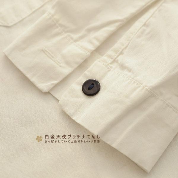 เสื้อเชิ้ตแขนยาว ผ้าทอนิ่มปักลายวินเทจ แต่งเนคไทลายแมว