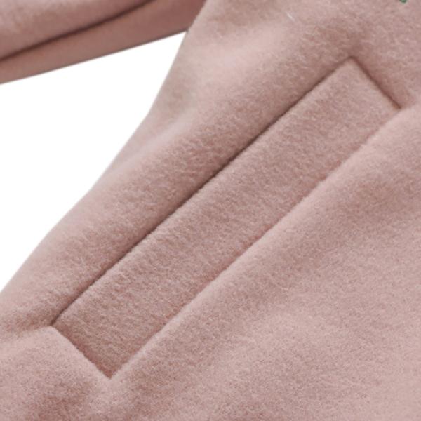 เสื้อแจ็คเก็ตกันหนาวรุ่นหนา ปักลายวินเทจ มีกระเป๋าคู่