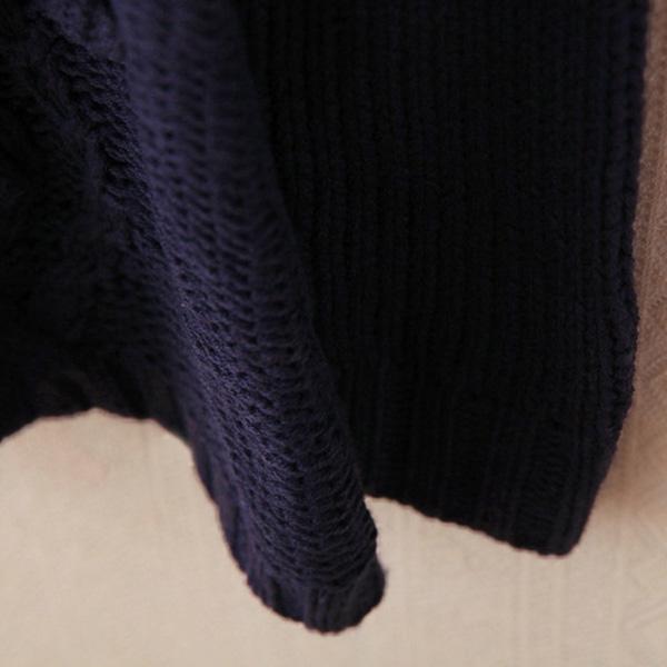 เสื้อคลุมกันหนาววินเทจ ไหมพรมหนานุ่มถักลายนูน