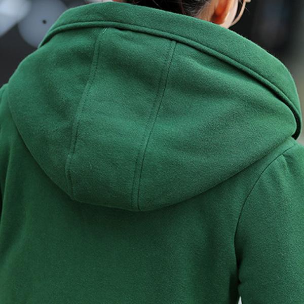 เสื้อโค้ทกันหนาวสไตล์สปอร์ต มีฮู้ด ซับผ้าขนนุ่มเต็มตัว