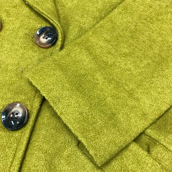 เสื้อโค้ทกันหนาวทรงสูท ผ้าวูลขนแกะ แต่งกระเป๋าคู่ (12195X)